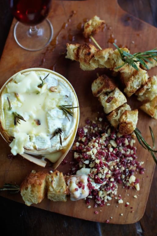 Baked Camembert with Nutty Cranberry Crumble