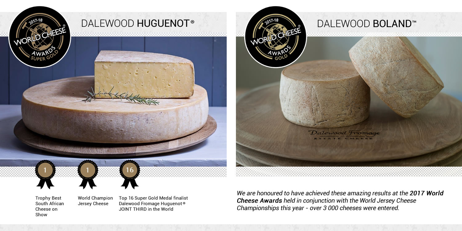 World Cheese Awards Super Gold for Dalewood Fromage, South Africa